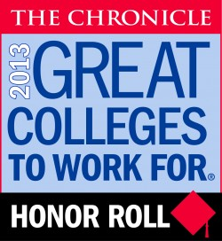 2013 Chronical of Higher Education - Great Colleges to Work For Honor Roll