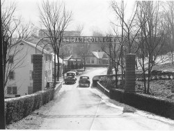 Milligan College entrance, 1957