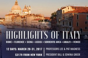Alumni Tour 2017: Highlights of Italy