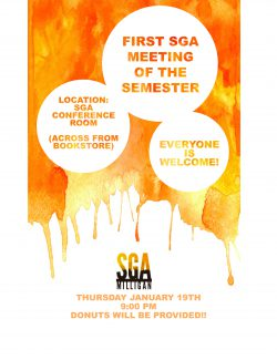 First SGA meeting of the Semester