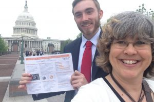 Collin Prusak and Dr. Rebecca Sapp at Capitol