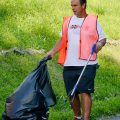 VP for Student Development and Athletics Mark Fox picked up trash.