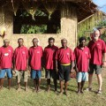Dr. Mike Sweeney with the Mum translation team in Papua New Guinea.