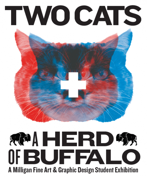 Two Cats + A Herd of Buffalo Downtown Art Exhibit @ Dos Gatos Coffee Bar