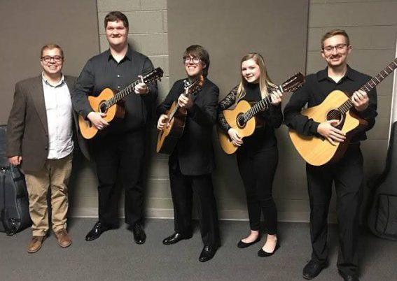 Milligan University guitar ensemble