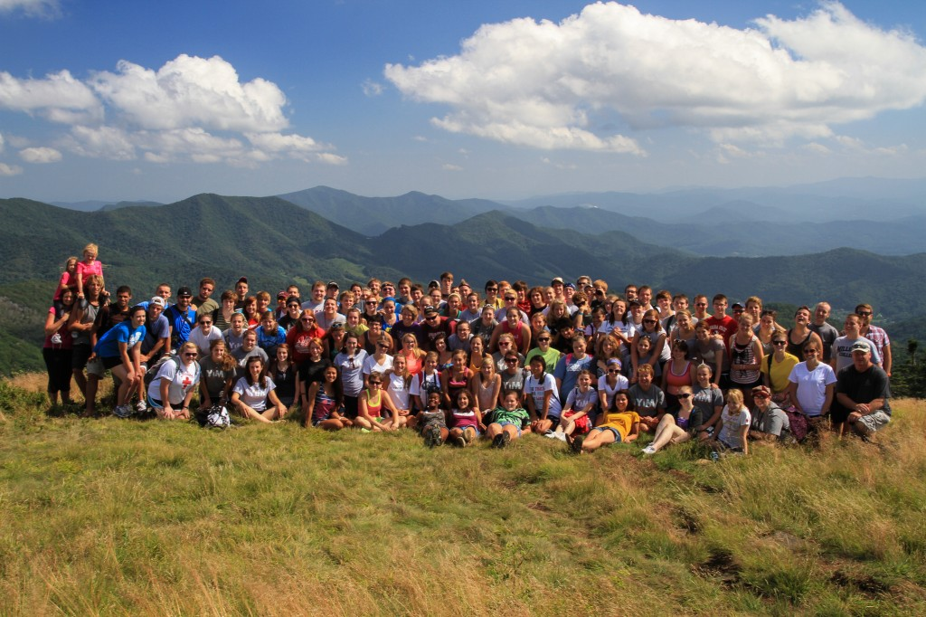 Youth in Ministry Group Photo on Roan Mountain