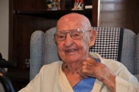Dennis Helsabeck turned 100 years old