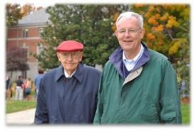 Dr. Dennis Helsabeck, Sr., with son Denny
