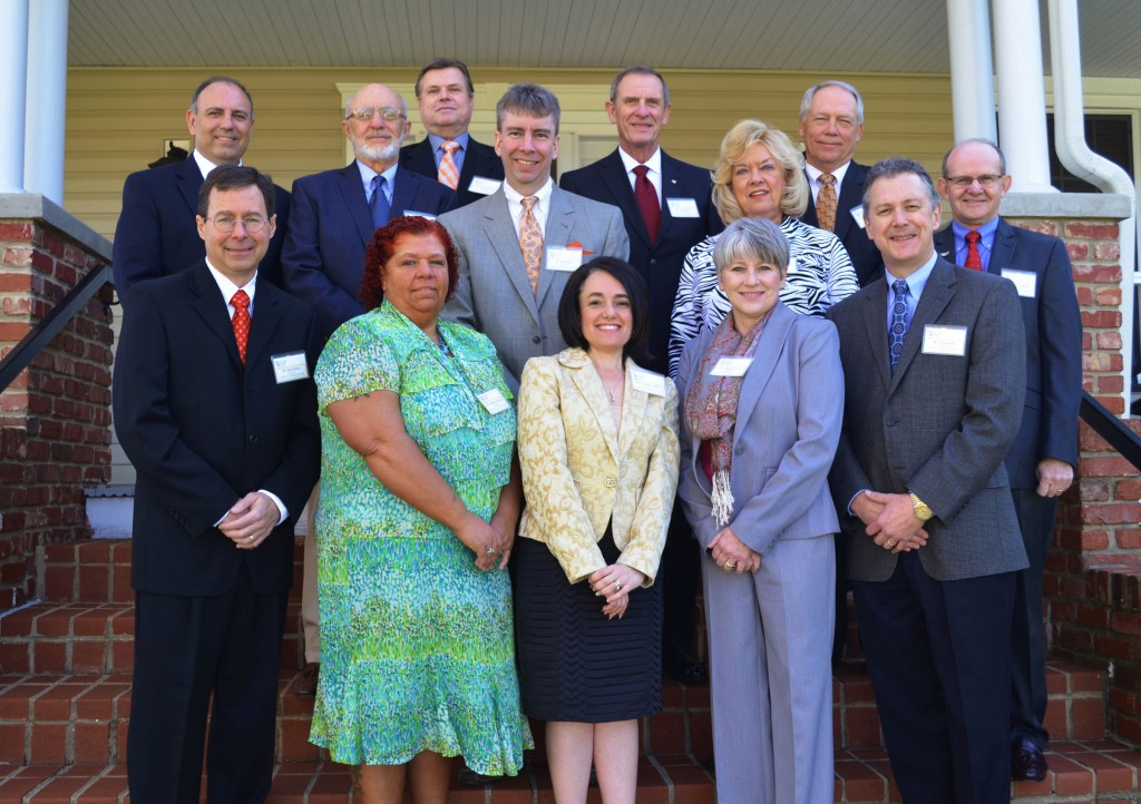 Milligan College's 2013 Leaders in Christian Service include: (front row) Mark Sitter, Tabatha Gonzales, Jennifer Keller, Donna Seaton and Tom Seaton; (middle row) Bill Greer, Jim Heaton, Jeff Keller, Ann O'Quinn and Larry Calhoun; (back row) David Torgerson, Lynn Parker and Thomas Torbett (Not pictured: Phillip Timp).