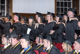 Milligan graduates 101 in the December 2012 Commencement Service.