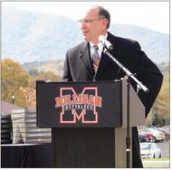 Milligan College President Dr. Bill Greer dedicated the five new residence halls at Milligan College.